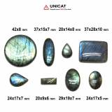 Cabochon Labradorit 20-42 x 9-28 x 5-10 mm - Unicat